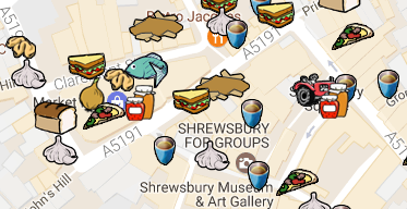shrewsbury food map